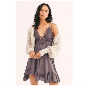 Free People FP One Adella Slip Mini Dress Grey XS